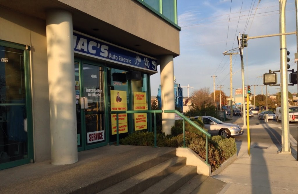 CONTACT US @ Macs auto electric 496 bay street victoria bc